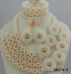 Amazing-White-African-Beads-Jewelry-Set-Nigerian-Beads-Necklace-Gold-Plated-Jewelry-Sets.jpg (1860×1943)