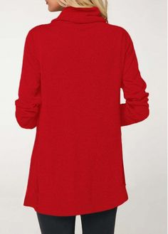 c56dc66ccf6ebe Cowl Neck Long Sleeve Christmas T Shirt