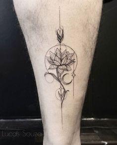 Transpassar  #lotustattooo #lotus #arrow #arrowtattoo #blackwork