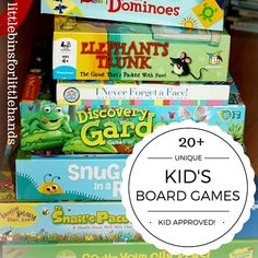 20 Best Kindergarten and Preschool Board Games Ages 3-8. Matching games, cooperative games, math games, and visual processing games!