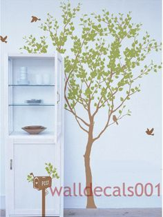 Vinyl tree wall decals wall stickers tree kids by walldecals001
