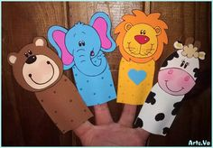 titeres de dedo de animalitos en goma eva Professional Puppets, Diy And Crafts, Crafts For Kids, Puppet Patterns, School Hacks, Animal Crafts, Classroom Decor, Ideas Para, Projects To Try