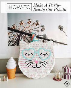 The cutest kitty piñata!