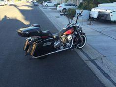 2005 Harley-Davidson FLSTFI Custom , Black/Red, 10,400 miles for sale in Las Vegas, NV