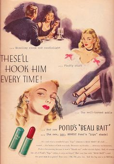 Ad- Ponds Beau Bait lip stick 1945