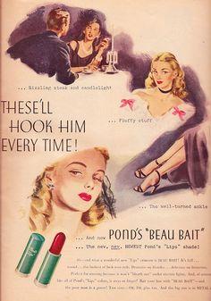 Ad- Ponds Beau Bait lip stick 1945