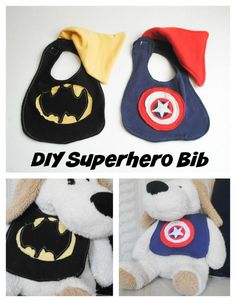 Beatnik Kids DIY Superhero Bib Pattern accessories boy sewing free pattern Gifts Handmade Gifts For Boys sewing tutorial  superhero crafts superhero sewing pattern sew for baby Handmade Gifts For Boys free pattern boy sewing bibs bib pattern