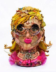 Artist Freya Jobbins. http://flavorwire.com/439127/intricate-terrifying-sculptures-made-from-doll-parts/10/