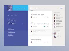 Social calendar app by Jakub Antalík