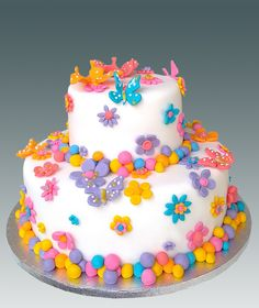 Butterfly And Flower Cake Images