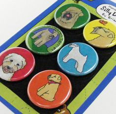 Wheaten terrier magnets - I want these.