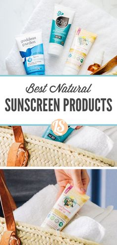 The best natural sunscreen options for kids, adults, the face, and lips. Non-toxic brand recommendations and a homemade recipe. Facial Sunscreen, Natural Sunscreen, Spf Lip Balm, Tinted Lip Balm, Tinted Moisturizer, Best Skincare Products, Natural Products, Homemade Skin Care