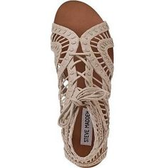 Steve Madden Paiigge sandal. I have a pair of these in golden yellow! Gorgeous!   pinterest: buckwalterabbie