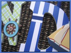 Nautical Boats Wall letters for boys Nursery or Bedroom by dmh1414, $12.50
