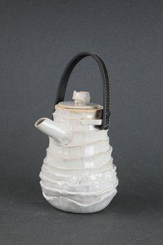 ruffled white ceramic teapot. ShaKed Kaplin $108