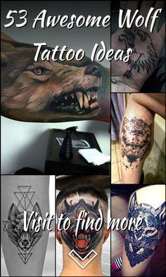 53 Awesome Wolf Tattoo Ideas Wolf Tattoos, Tribal Tattoos, Wolf Tattoo Design, Tattoo Designs, Tattoo Ideas, Awesome, Tattooed Guys, Tattoo Patterns, Design Tattoos