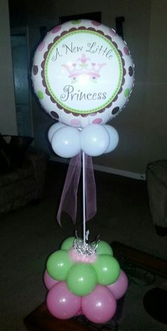 New little princess baby shower centerpiece