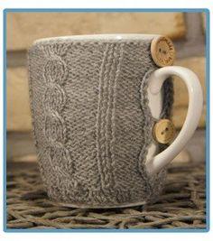 handmade kubek w sweterku ręcznie robiony boguś