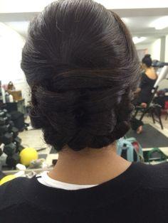 Updo. Low Bridal Hair Medium length hairstyles Hair Medium, Medium Hair Styles, Something Beautiful, Hair Designs, Updos, Bridal Hair, Designers, Hairstyles, Wedding