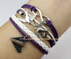 Jewelry bracelet infinity wish bracelet lover bird by handworld, $4.99