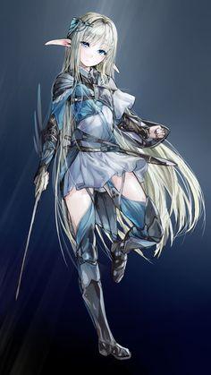 anime elven girls | Home » Gallery » Anime Girls » Artbooks » a sad Elven warrior