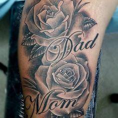 mom #dad #rose #tattoo #tattoos #montreal #tattooshop #uptowntattoos ...