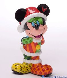 This Mickey Mouse mini Christmas figurine forms part of the Disney by Britto collection of figures. Here the ever enchanting Mickey eagerly anticipates the arrival of Christmas season Mickey Mouse Figurines, Santa Figurines, Disney Figurines, Christmas Figurines, Collectible Figurines, Mickey Mouse Design, Mickey Minnie Mouse, Disney Mickey, Disney Art