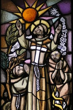 """""""Be praised, my Lord, through all Your creatures, especially through my lord Brother Sun, who brings the day; and You give light through him. And he is beautiful and radiant in all his splendor! Of You, Most High, he bears the likeness."""" #Saint Francis of Assisi"""