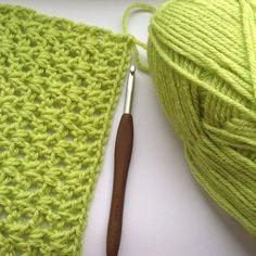 hooked__on__hooky crochet green vstitch scarf