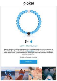 Blue lokai bracelet. Blue water bracelet.