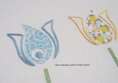 Tulips hand embroidery pattern