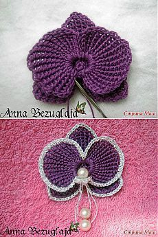 Ravelry orchid b pattern by claudia giardina afs collection orchid mc ccuart Gallery
