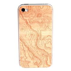 Wooden Topo iPhone 4/4S Skin / Lazerwood #phonecase #case