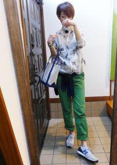 5月1日 シマウマ柄とグリーンのパンツ