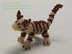 Beading for beginners: cat in 3-D beading