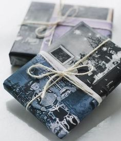 We love this creative idea to use old family photos to giftwrap your presents for loved ones. What do you think? (Image credit: http://sweetpaulmag.com)