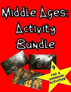 Middle Ages Activity Bundle: 9 Engaging Social Studies Lessons to teach about the Middle Ages In the The Middle Ages Activity Bundle you will receive 9 fun and engaging lessons that your students will truly enjoy! This bundle includes 9 engaging activities and are listed below!