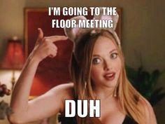 Floor Meeting Mean Girls Flyer Ra College, College Life, College Students, Ra Events, Ra Door Decs, Ra Bulletins, Ra Boards, Ra Bulletin Boards, Residence Life