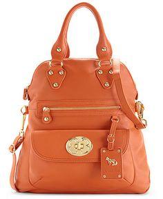 Emma Fox Handbag, Classics Large Foldover Tote - Emma Fox - Handbags & Accessories - Macy's Color: Orange $222.99 (sale)   ----- (I REALLY REALLY WANT)