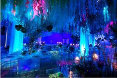 blue uplighting | RentMyWedding.com ~ Our Blog