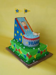 Waterslide Birthday Party Cake by CakesUniqueByAmy.com, via Flickr