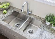 10 Pictures That Will Change Your Mind About Stainless Steel Sinks: Thicker Gauge Steel With the Moen 1600 Series