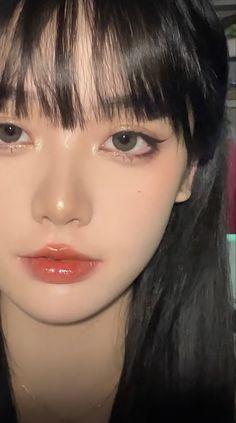 Goth Makeup, Makeup Inspo, Beauty Makeup, Eye Makeup, Hair Makeup, Korean Make Up Natural, Korean Natural Makeup, Asian Makeup Looks, Korean Makeup Look