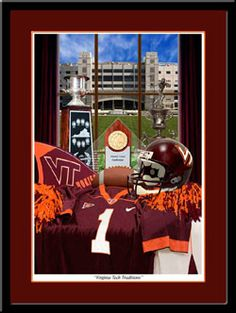 Virginia Tech Traditions Framed Hokies Football Print