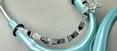 Custom Black and White Swarovski Crystal by CustomStethoscopeIDs, $21.00