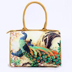 86e3e11cd R$ 79.2 22% de desconto|Sacos De praia Bolsas Mulheres 2018 Nova Impressão  Digital Floral Bonito Sacos de Ombro Da Lona Senhora Da Praia Sacos de Bolsa  ...