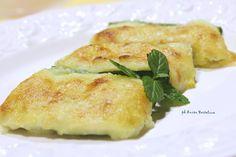 Zucchine verdi con purè di patate