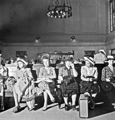 Waiting room at the Pennsylvania railroad station, NYC, 1942. Photo by Marjory Collins.