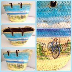 Monica Gars/ capazo de palma / wicker beack basket. www.monicagars.com
