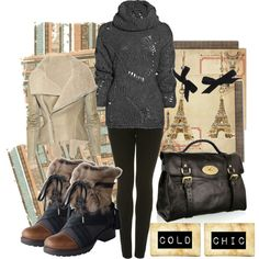 A fashion look from October 2010 featuring long sleeve tops, brown leather jacket and high rise jeans. Browse and shop related looks.